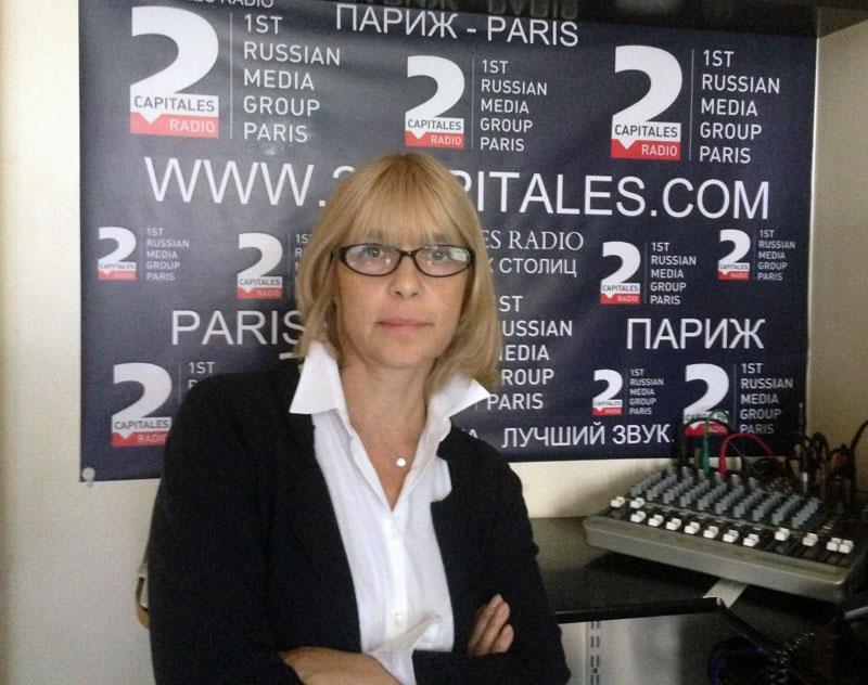 Вера Глаголева в студии 2Capitales Radio - Радио Двух Столиц - Париж 2015 год.